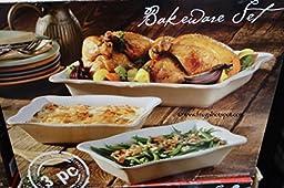 Stoneware 3-piece Bakeware Set 970991