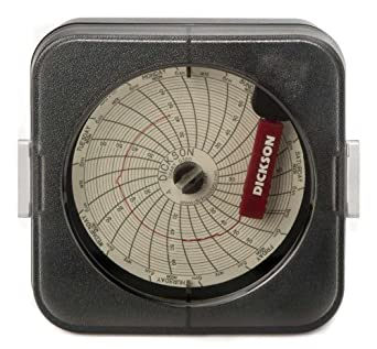 Dickson temperature chart recorder 7 day or 24 hour rotation