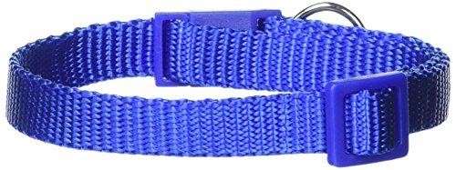 Savvy Tabby Nylon Cat Collar, 3/8-Inch, Nautical Blue