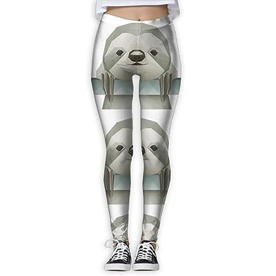 89a04b935c3b2 Yoga leggings sloth funny faces clipart womens full length workout thin capris  pants jpg 400x400 Capri