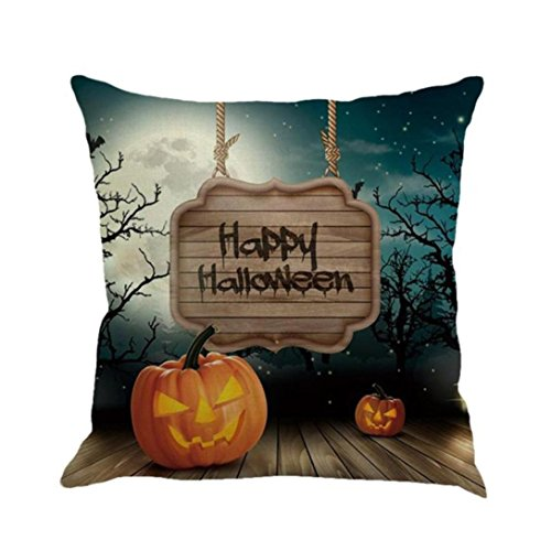 Han Shi Halloween Pillowcases, Sofa Cushion Cover Home Decoration Pillow Shams Pillowslips Cartoon Pillowcase (B, Multicolor) (Measurements Euro Sham)