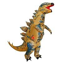 Inflatable Dinosaur Costume for Kids, T-Rex Skeleton Stegosaurus Halloween Fancy Dress