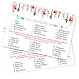 Girls Woodland Baby Shower Game Cards Set of 25 - Pregnancy How Sweet It Is