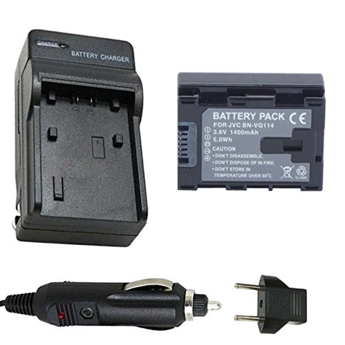 Battery and Charger for JVC Everio GZ-EX515BU, GZ-EX555BU...