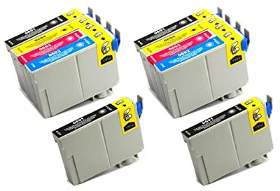 10 Pack - Toners & More ® Remanufactured Inkjet Cartridge Set for Epson T069 #69, T069120 Black, T069220 Cyan, T069320 Magenta, T069420 Yellow, Compatible with Epson Stylus CX5000, CX6000, CX7000F, C120, CX7400, CX8400, CX9400 Fax, CX7450, NX100, NX300, N