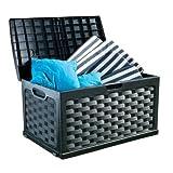 71 Gallon Plastic Deck Box Color: Black / Black