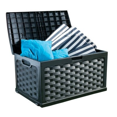 71 Gallon Plastic Deck Box Color: Black / Black by Starplast