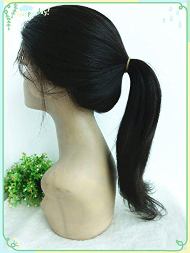100% Chinese Virgin Human Hair,light Yaki Texture,high Ponytail Glueless Full Lace with Silk Top,in Stock Wigs--bw1201-18'' by April silk top wigs (Image #5)