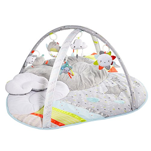 Best Buy! Skip Hop Baby Infant and Toddler Silver Lining Cloud Activity Gym and Playmat, White, Silv...