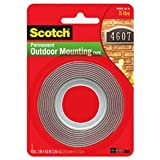 Scotch Extreme Mounting Tape, 1-Inch by 60-Inches, Black, 2-Rolls