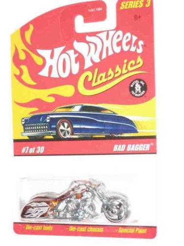Classic Bagger (Classics Series 23 #7 Bad Bagger Orange Collectibles Collector Car 2007 Hot Wheels)