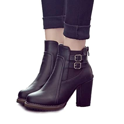 cef4a6ed47ed4 Amazon.com: Kyle Walsh Pa Women High Boots Leather Chelsea Boots ...