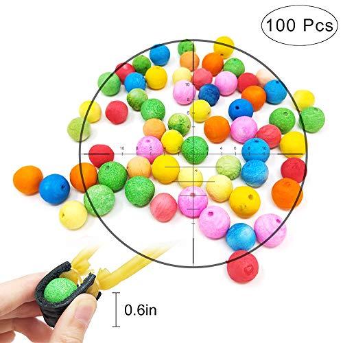 TOPRADE Multiple Color Paper Pellets Balls Bobbles Slingshot Ammo Safe Ammo for Children Enjoy Family Time (100pcs)