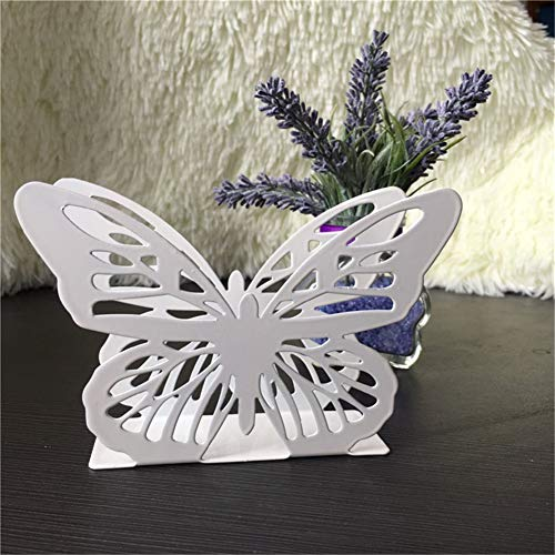 1 PCS Butterfly Napkin Table Tissue Towel Holder Beautiful Metal Steel Craft Block Rack Home Hotel Table Decor Box