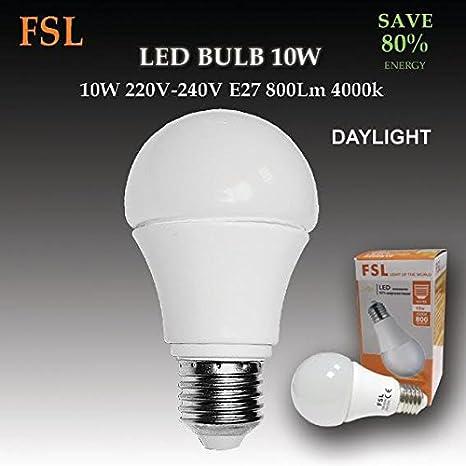 Bombilla LED de 10 W E27/ES 80% ahorro de energía: Amazon.es: Iluminación