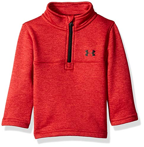 Under Armour Baby Boys Quarter Zip Pull Over Jacket, Lockdown red, 12M