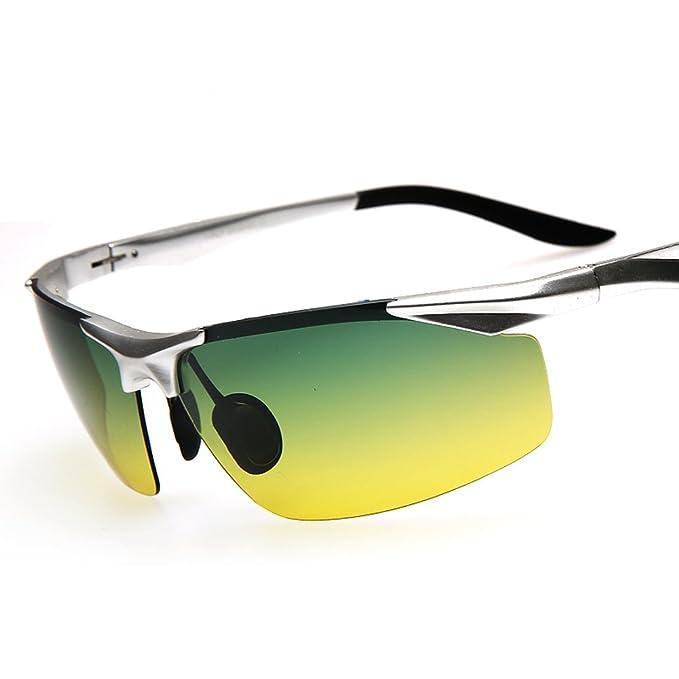 Gafas de sol polarizadas de los hombres/Día y noche tonos/Campaña condujo las gafas de sol/Especiales conducir mirrors/gafas polarizadas/Visión nocturna-I: ...