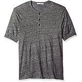 Alternative Men's Linen Jersey Costa Del Sol Henley, Charcoal Heather, S