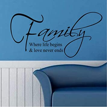 Dctop Family Where Life Begins and Love Never Ends Vinyl Tatuajes ...