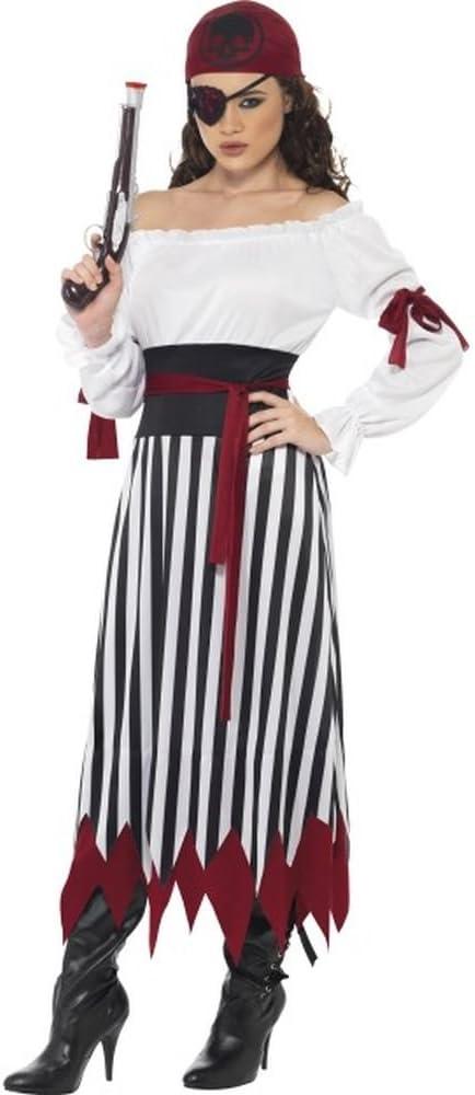 Smiffys Disfraz Mujer Pirata con Falda a Rayas: Amazon.es ...
