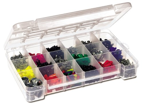 Akro-Mils 5905 Plastic Parts Storage Case for Hardware and Craft, Large, Clear -