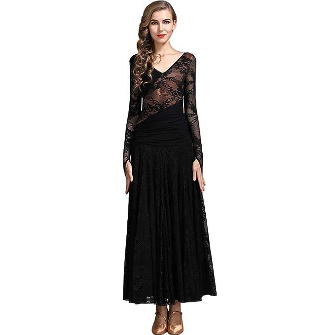 Amazon.com: Vestido de baile moderno y elástico para mujer ...