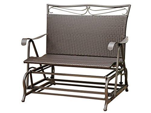 (Valencia Steel-Frame Wicker Glider Rocking Chair, Chocolate )