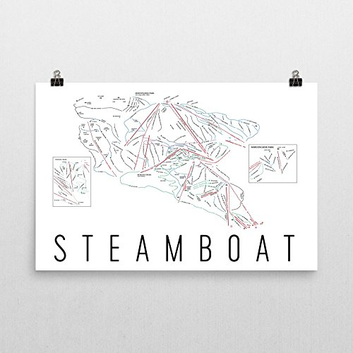 Steamboat Poster, Steamboat Ski Resort Poster, Steamboat Art Print, Steamboat Trail Map, Steamboat Trail Map Art, Steamboat Wall Art Poster, Steamboat Colorado Decorative Map, (24