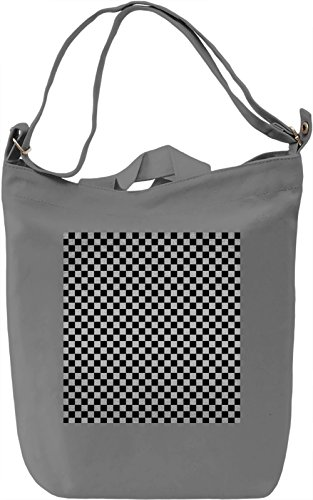 Black And White Squares Pattern Borsa Giornaliera Canvas Canvas Day Bag| 100% Premium Cotton Canvas| DTG Printing|