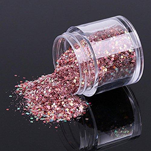 Binmer 10g/Box Gold Sliver Nail Glitter Powder Shinning Nail