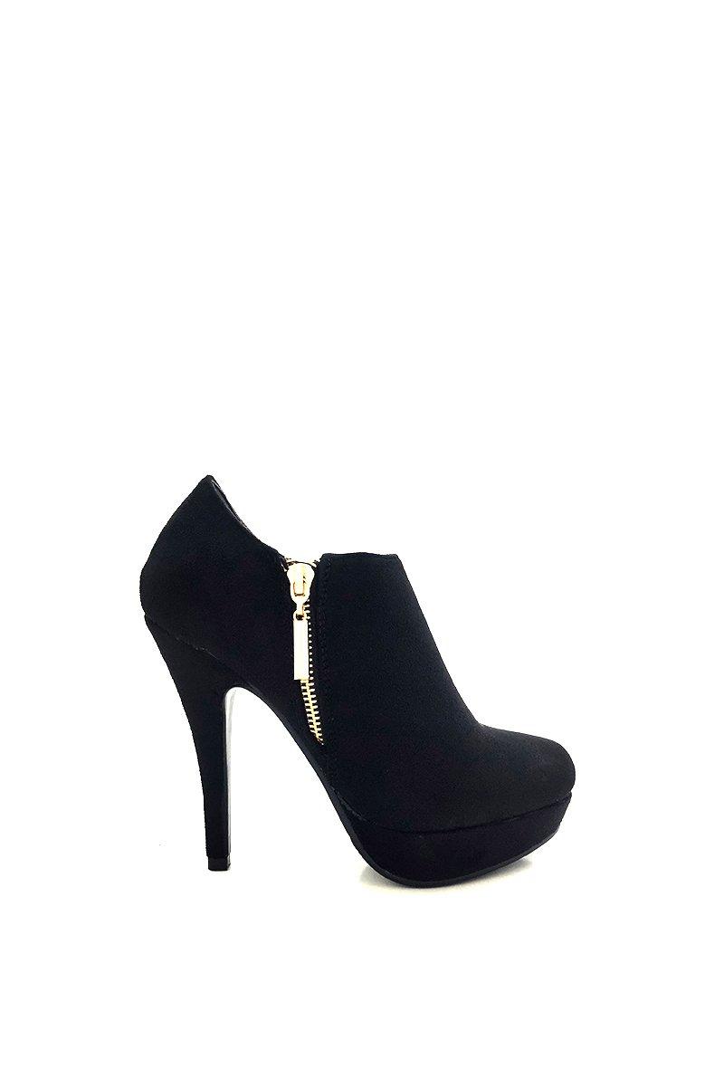CHIC NANA . NANA Chaussure Femme 13093 Bottine Aspect à Talon Aiguille Plateforme, Aspect Daim, Zip Fantaisie. Noir b41a042 - latesttechnology.space