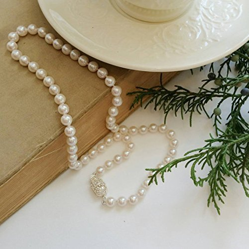 "Strand of Saltwater Akoya Pearls- 7mm, 17"" strand with Silver Plated Box Clasp"