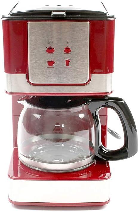 KFJZGZZ Máquina de café por Goteo por Vapor Práctico Mini Cafetera roja Cafetera de Vidrio Resistente al Calor 220V / 50Hz 550W 600mL / Seis Tazas de Capacidad: Amazon.es: Deportes y aire