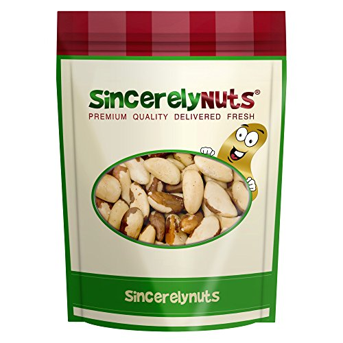 Sincerely Nuts Raw Brazil Nuts No Shell (3Lb Bag) | Premium Healthy Snack Food | Whole, Kosher, Vegan, Gluten Free | Keto & Paleo Diety Friendly | Gourmet Snack | Source of Vitamins & Minerals