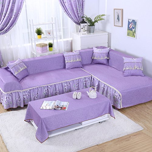 Vercart Full Coverage Seater Couch Sofa Slipcover Throw Covers Furniture Protector for Sofa Purple 67x102x102 Inches (Wingback Buy Chairs Where To)