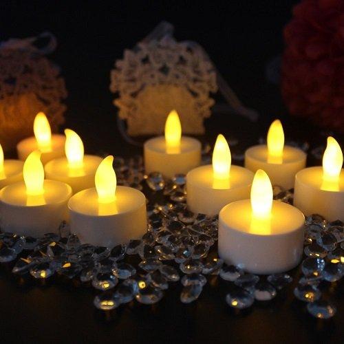 Flickering Tealight Candles SOKATON Battery Operated