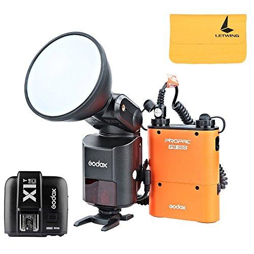 Godox Witstro AD360II-C TTL Powerful Speedlite Flash + PB960 Lithium Battery Black + X1C TTL Transmitter for Canon EOS Camera (AD360II-C Orange+ X1C-T) by Godox