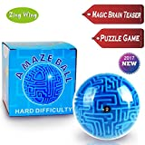 Mini 3D Magic Maze Puzzle Ball Cube Globe Sphere Bulk Labyrinth Game Toys Balance Fidge Brain Teaser Learning Education Puzzle Toys Gifts for Kids Boys Girls Adults Holiday Birthday Xmas Gifts 2017
