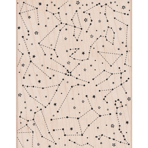 Hero Arts Constellation Background Woodblock Stamp