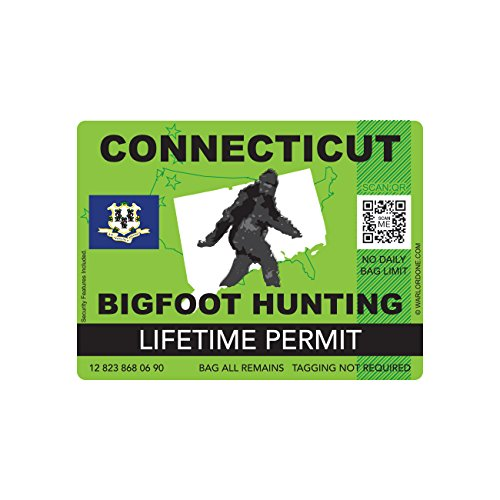 Connecticut Bigfoot Hunting Permits Bigfoot Gifts Amp Toys