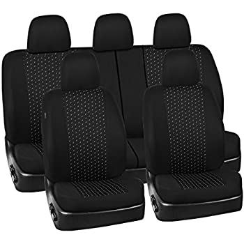 Marvelous New Arrival Car Pass 11Pcs Supreme Universal Jacquard Car Seat Covers Set Universal Fit For Vehicles Cars Suv Airbag Compatible Black And Gray Gmtry Best Dining Table And Chair Ideas Images Gmtryco