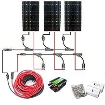 ECO-WORTHY 500W 12v Off Grid Tie Complete Solar Panel Kit: 3pcs 160W Mono Solar Panels+45A Charge Controller+Solar Cable+MC4 Branch Connectors Pair+Z Bracket Mounts