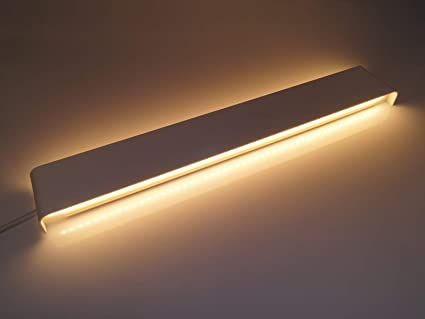 Aplique lámpara de pared de aluminio blanco 20 W LED interior ...