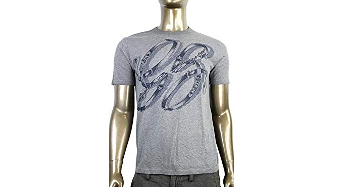 1a19568ec753 Amazon.com  Gucci Men s Cotton Graphic Top Horsebit Belt T Shirt 337660   Clothing