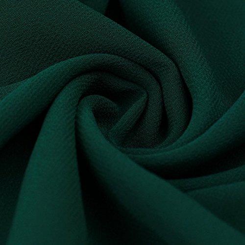 Robe Femme, Oyedens Femmes Vert Manche Longue Robe De SoiréE En Mousseline Mini Robe