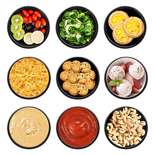 50-Pack Meal Prep Containers Freezer Containers Plastic Microwavable Food Containers Bowls with Lids (10 oz) Storage Bento Lunch Boxes -BPA-Free Food Grade