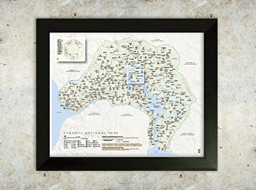 Cyrodiil Map (Oblivion) National Park Style 16x20 Poster