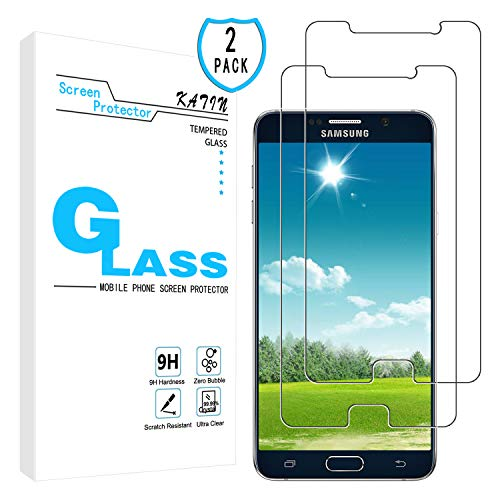KATIN Galaxy Note 5 Screen Protector - [2-Pack] for Samsung Galaxy Note 5 Tempered Glass Bubble Free, 9H Hardness with Lifetime Replacement Warranty