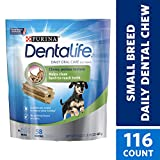 Purina DentaLife Made in USA Facilities Toy Breed Dog Dental Chews, Daily Mini - (2) 58 ct. Pouches