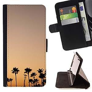 """For Samsung Galaxy J3(2016) J320F J320P J320M J320Y,S-type Colorful Sky Sunrise Sunset Trees"""" - Dibujo PU billetera de cuero Funda Case Caso de la piel de la bolsa protectora"""